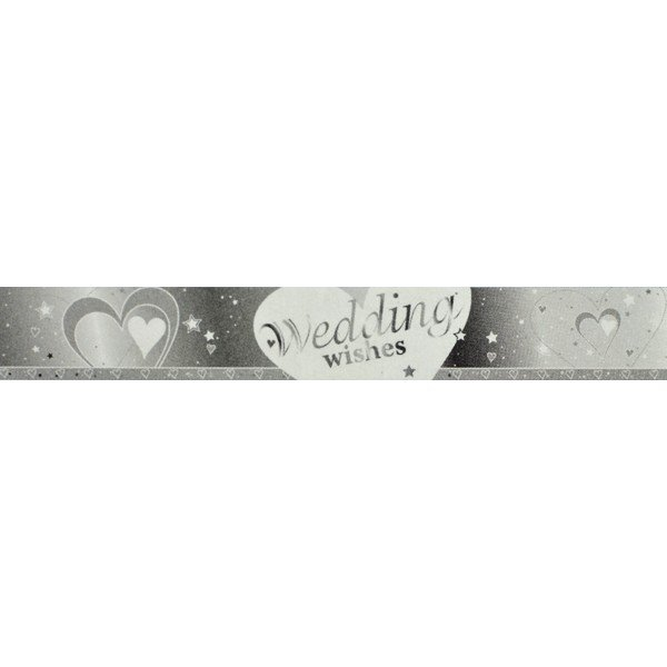 Creative Party 9 Foot Foil Banner - Wedding Wishes