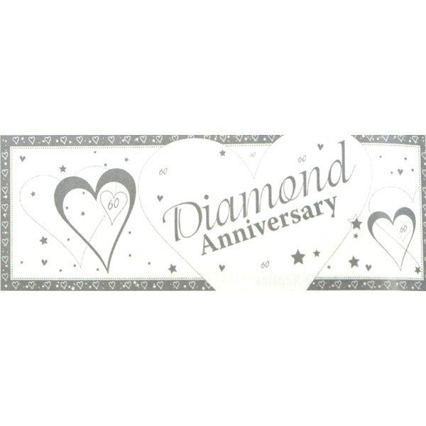 Creative Party Anniversary Giant Banner - Diamond