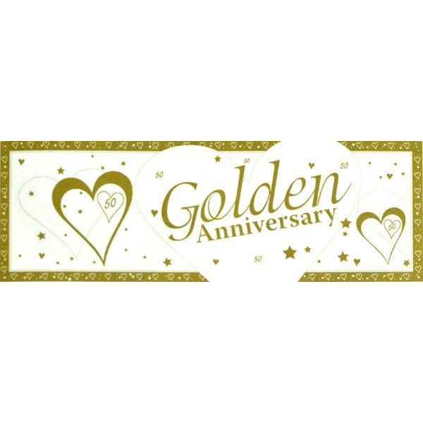 Creative Party Anniversary Giant Banner - Golden