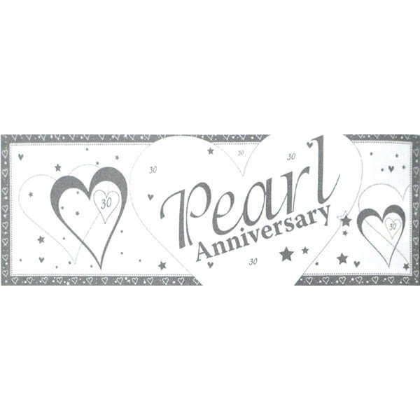 Creative Party Anniversary Giant Banner - Pearl