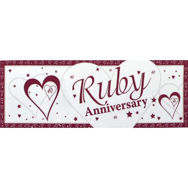 Creative Party Anniversary Giant Banner - Ruby