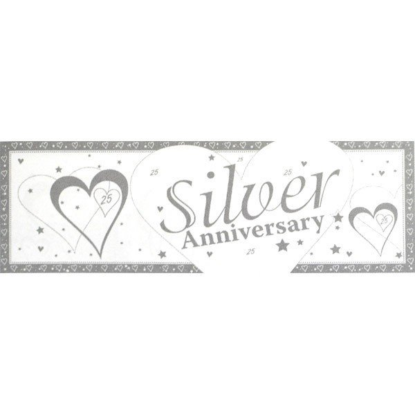 Creative Party Anniversary Giant Banner - Silver