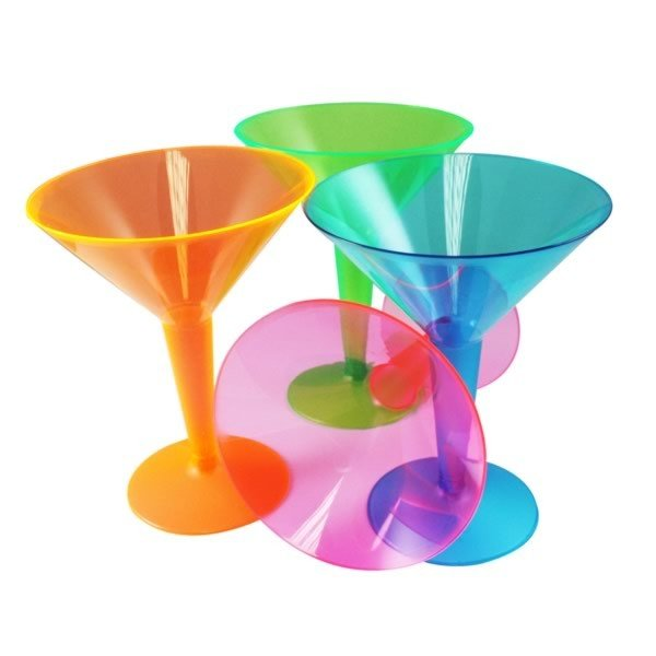 Creative Party Assorted Plastic Martini Glasses