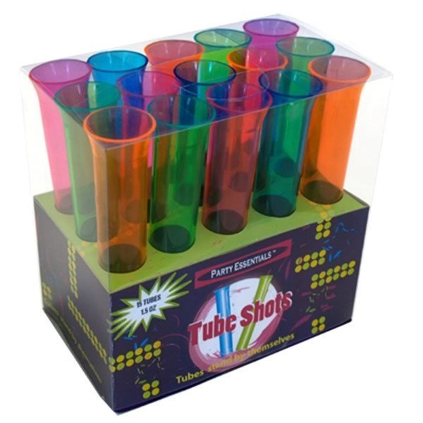 Creative Party Assorted Plastic Tube Shots