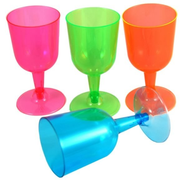 Creative Party Assorted Plastic Wine Glasses