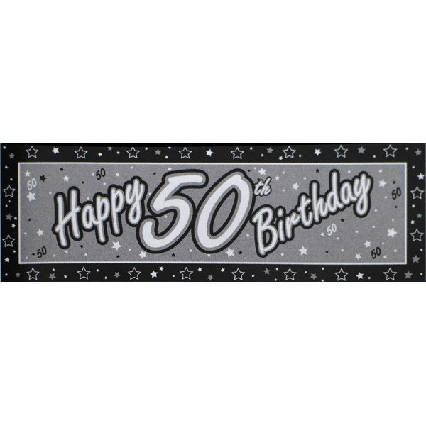 Creative Party Black Giant Banner - 50th
