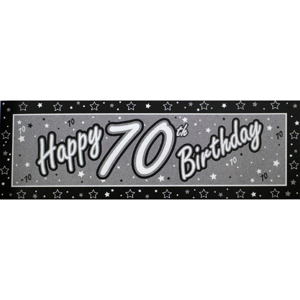 Creative Party Black Giant Banner - 70th