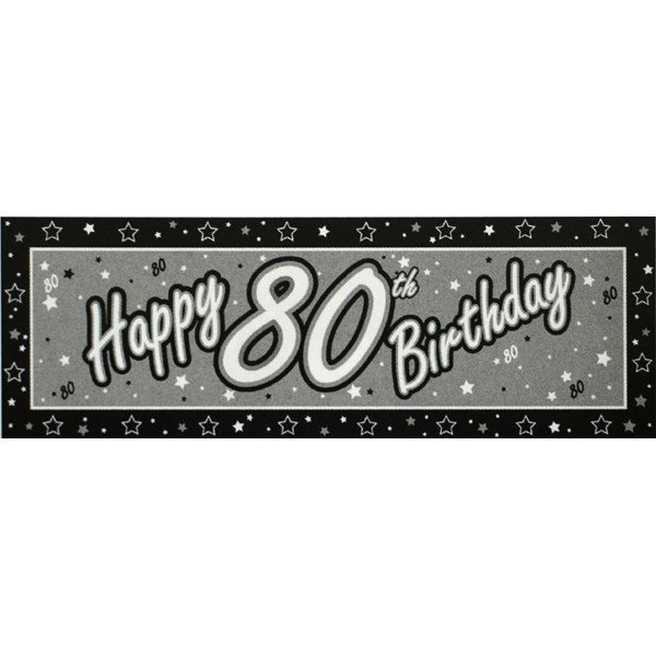 Creative Party Black Giant Banner - 80th