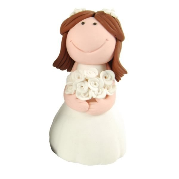 Creative Party Cake Topper - Brunette Bride