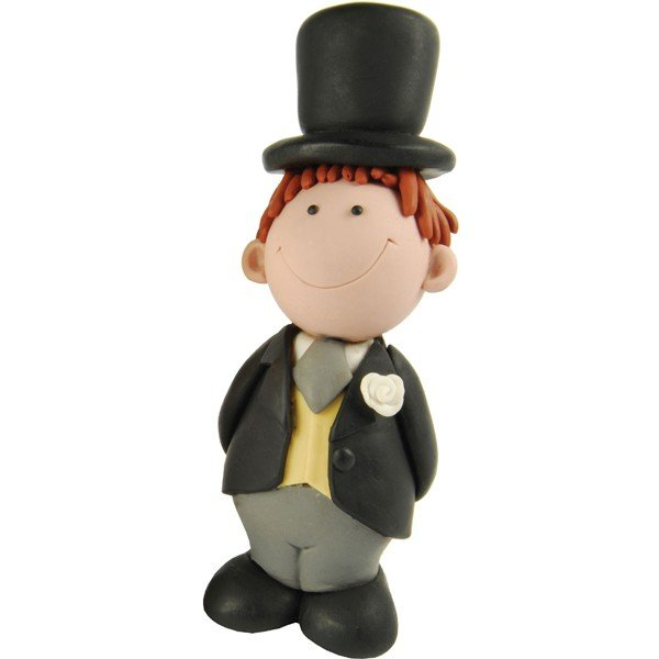 Creative Party Cake Topper - Brunette Groom