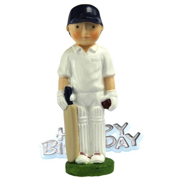 Creative Party Cake Topper - Cricketer & Motto