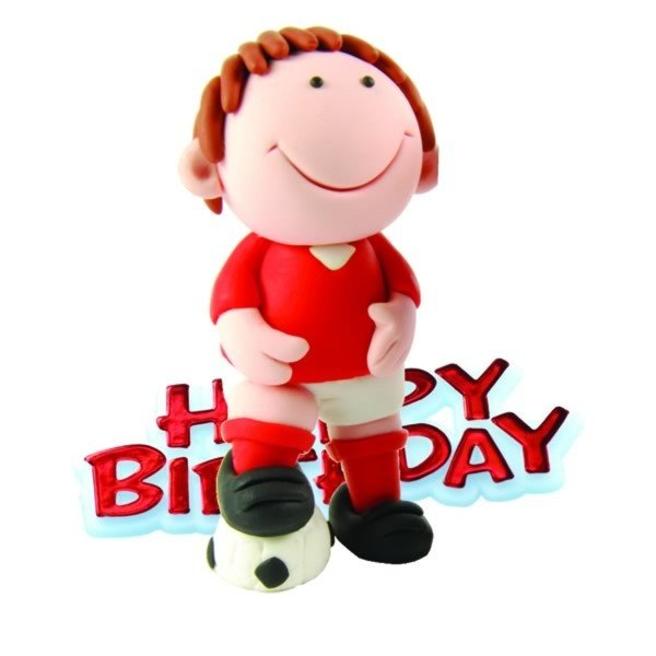 Creative Party Cake Topper - Football & Red Motto