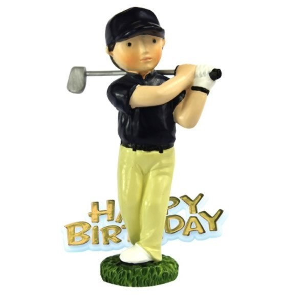 Creative Party Cake Topper - Golfer & Motto