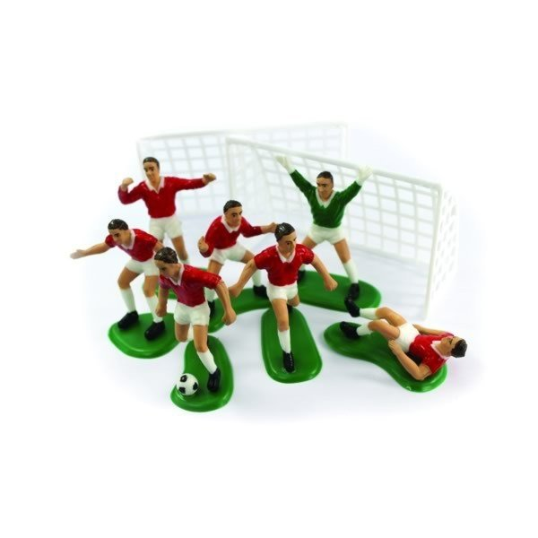 Creative Party Cake Topper - Red Footballer Set