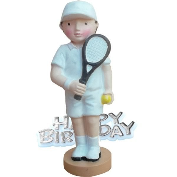 Creative Party Cake Topper - Tennis & Motto