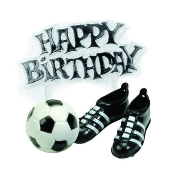 Creative Party Cake Topper Kit - Football Boots & Motto