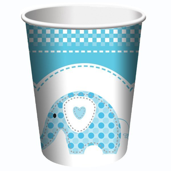 Creative Party Cups - Blue Sweet Baby Elephant