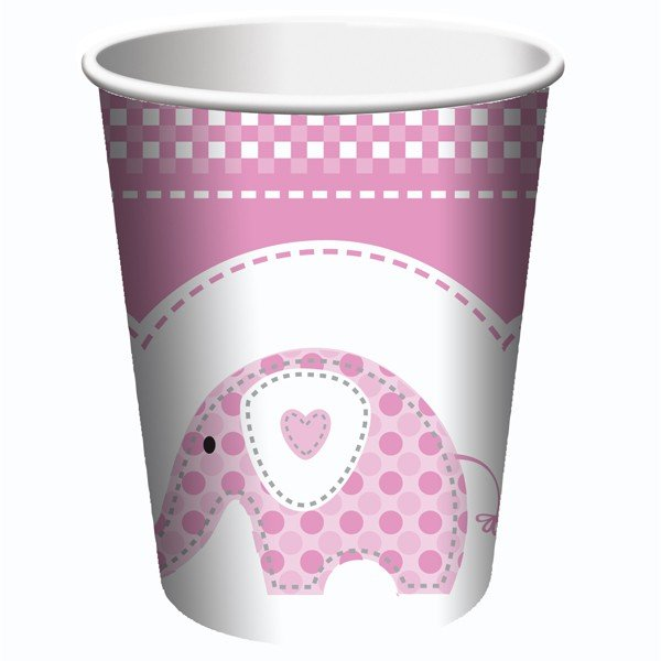 Creative Party Cups - Pink Sweet Baby Elephant