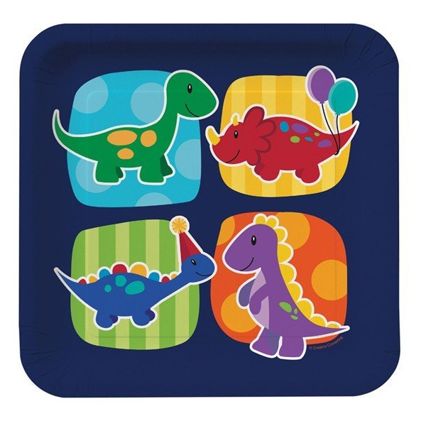 Creative Party Dinner Plates - Little Dino