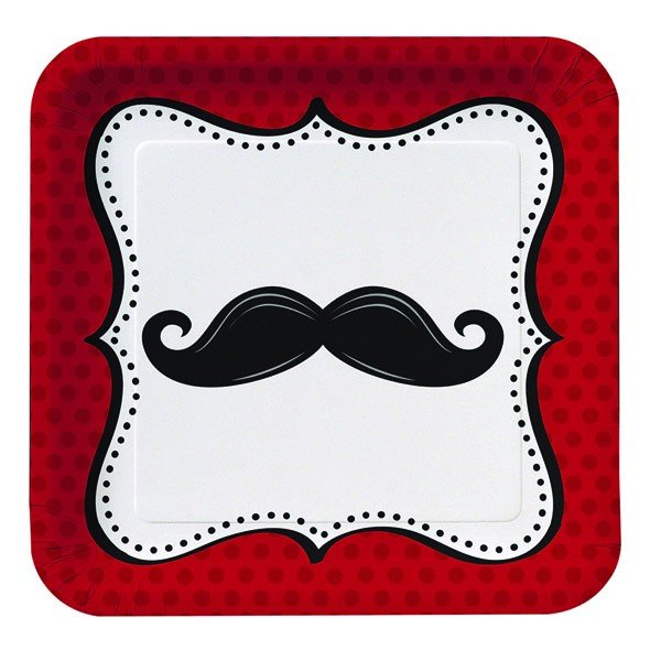 Creative Party Dinner Plates - Moustache Madness