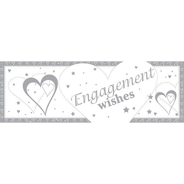 Creative Party Giant Banner - Engagement Wishes