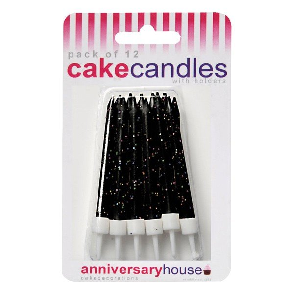 Creative Party Glitter Candles - Black