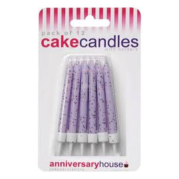 Creative Party Glitter Candles - Lilac
