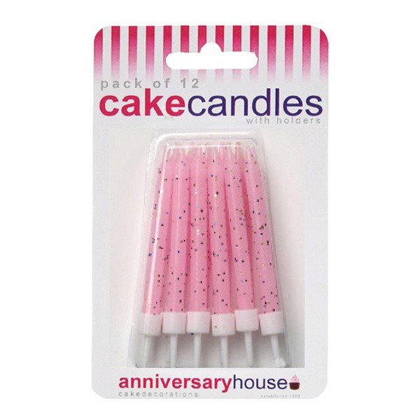 Creative Party Glitter Candles - Pink