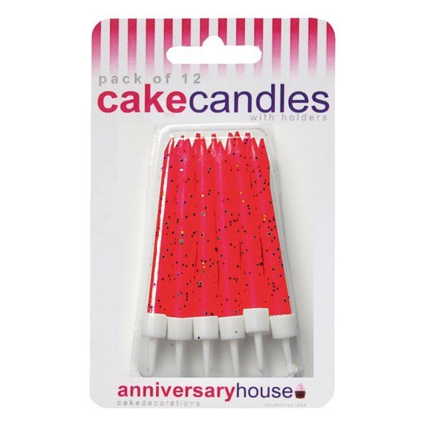 Creative Party Glitter Candles - Red