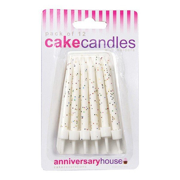 Creative Party Glitter Candles - White