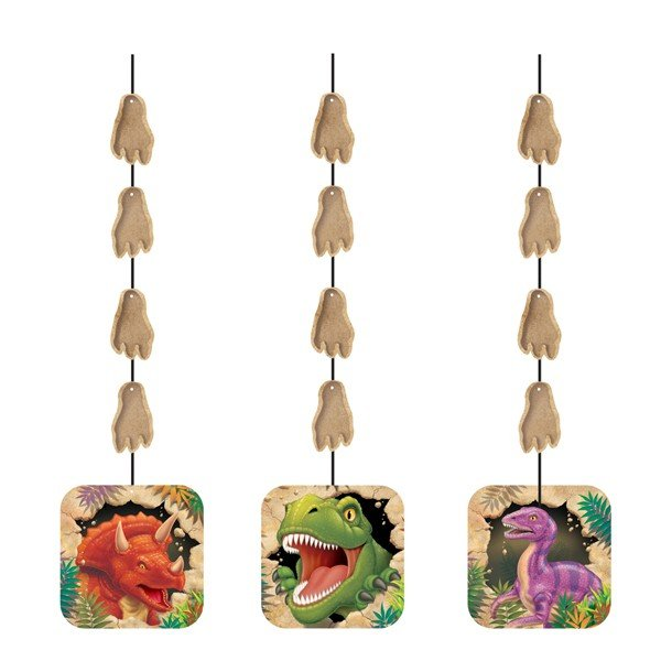 Creative Party Hanging Cutouts - Dino Blast