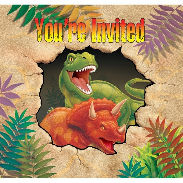 Creative Party Invitations - Dino Blast