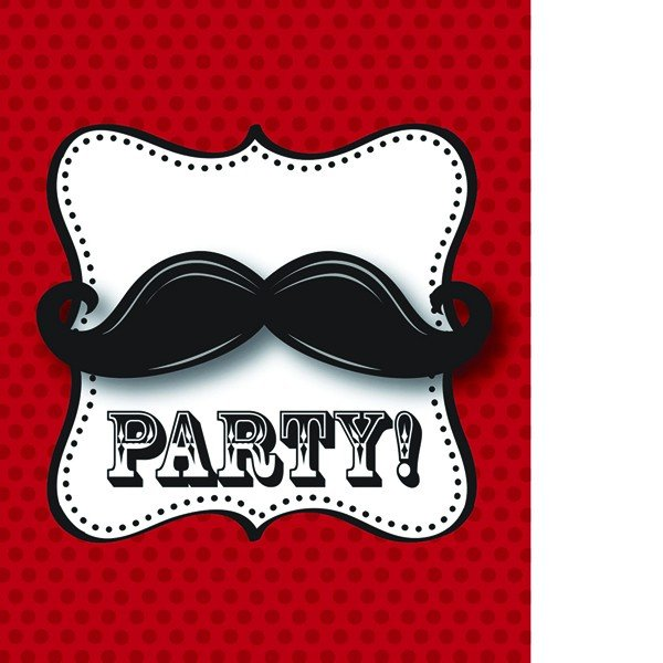 Creative Party Invitations - Moustache Madness