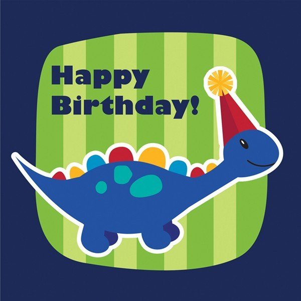 Creative Party Lunch Napkins - Little Dino Birthday
