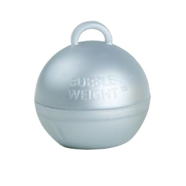Creative Party Plastic Bubble Balloon Weights - Silver