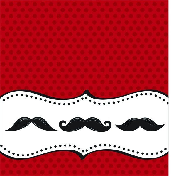 Creative Party Plastic Tablecover - Moustache Madness