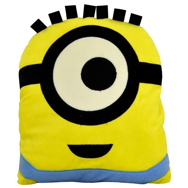 Despicable Me Minion Head Shaped Cushion - Stuart