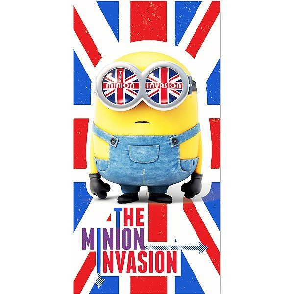 Despicable Me Minion Union Jack Towel
