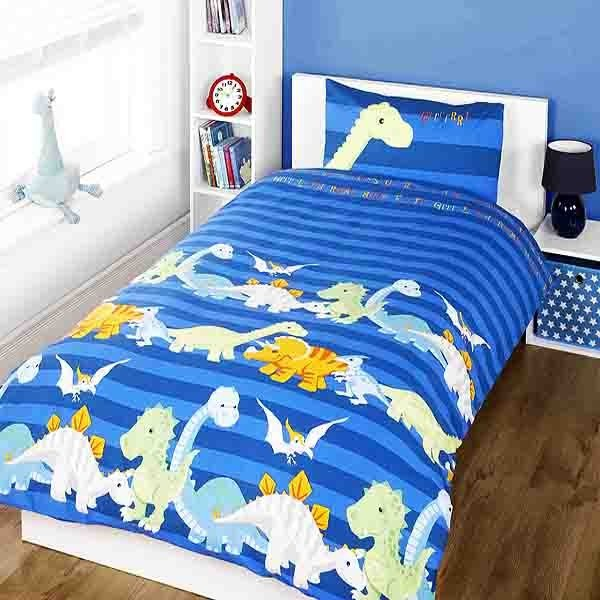 Dinosaur Single Duvet Set - Blue