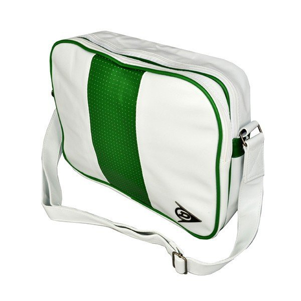 Dunlop Double Zipper Shoulder Bag - White/Green