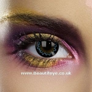 EDIT Big Eye Butterfly Aqua Contact Lenses