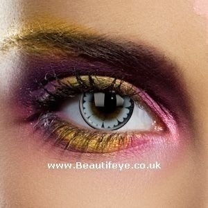 EDIT Big Eye Evening Grey Coloured Contact Lenses
