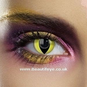 EDIT Colour Vision Yellow Cat Contact Lenses