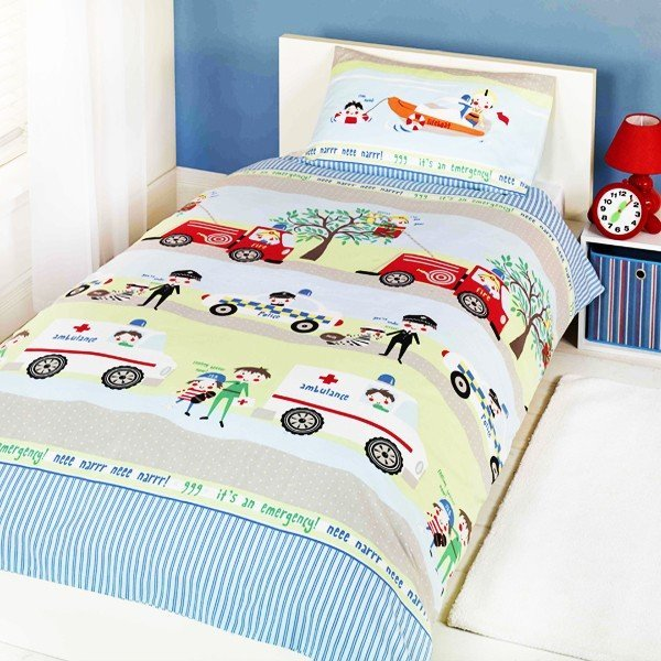 Emergency Vehicles Single Duvet Set
