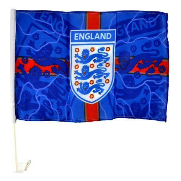 England Blue Lightning Car Flag