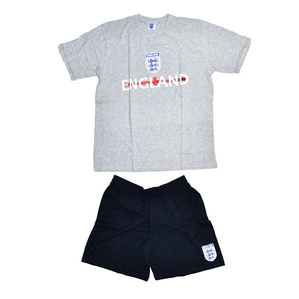 England Mens Grey Shorts Pyjama -M