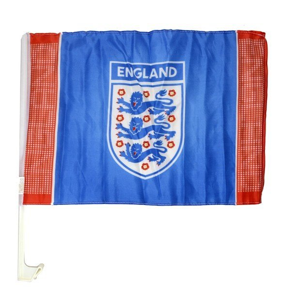 England Single Giant Crest Car Flag