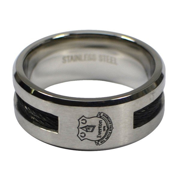 Everton Black Inlay Ring - Medium