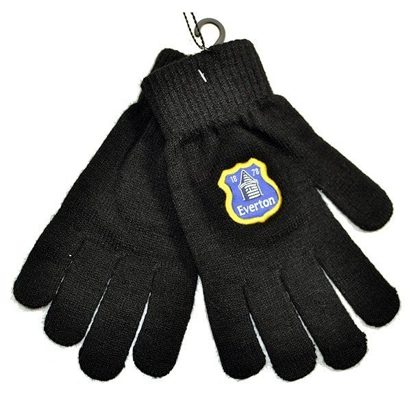 Everton Black Knitted Gloves