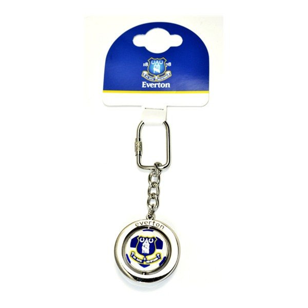 Everton Football Spinner Keyring